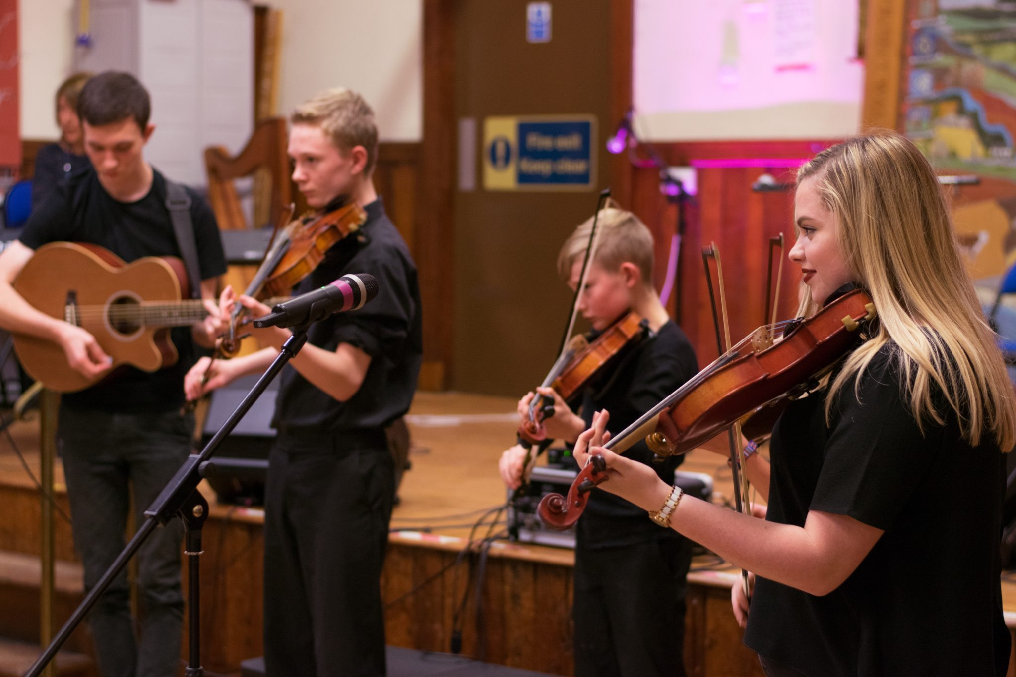 Kiltearn Fiddlers perform at Diamond Jubilee Hall in Evanton.